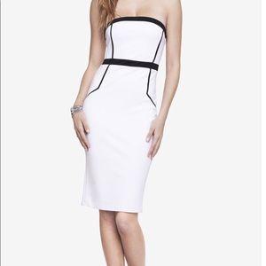 Express White Sleeveless Dress